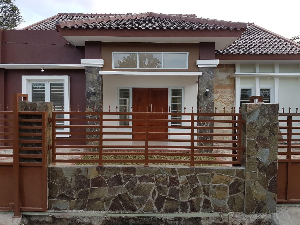 Hasil proyek Bangun Baru rumah 1 Lantai milik Bpk Vino di Komplek Mina Bakti, Cikaret, Ciapus, Bogor, Tahun 2016