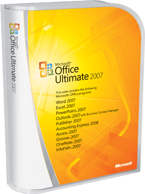 Microsoft Office Ultimate 2007 box
