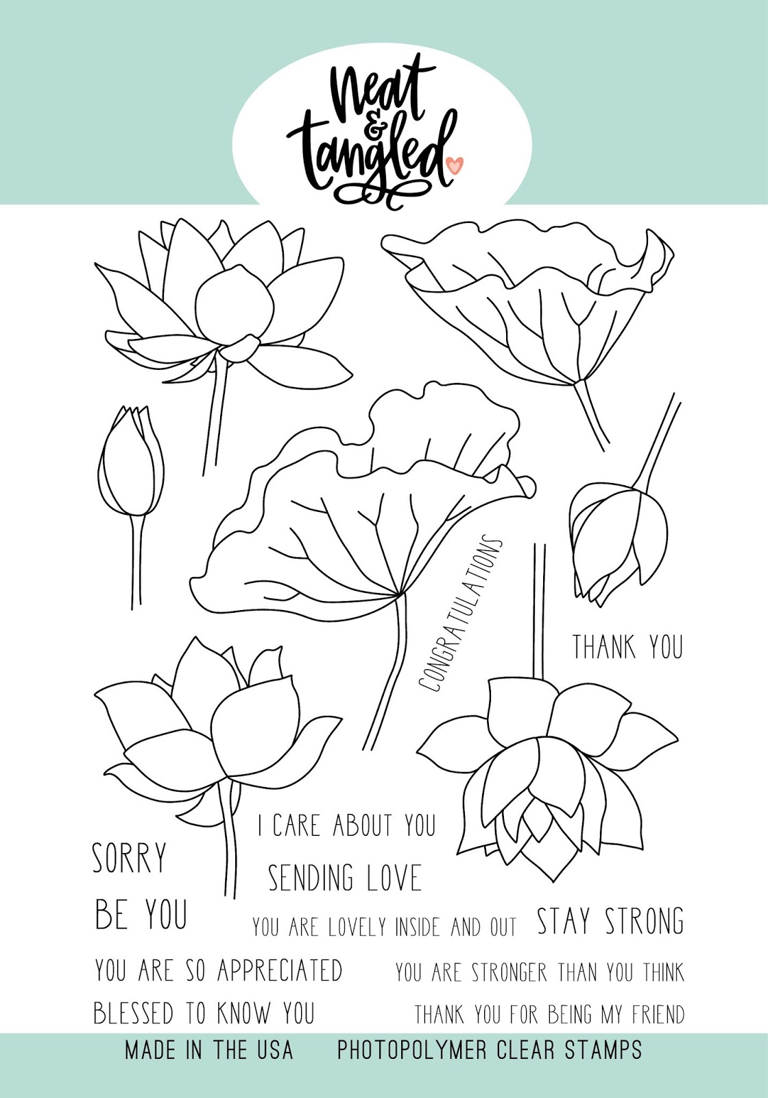 October 2018 Release Day 2 Lovely Lotus Card Front Designs Dies