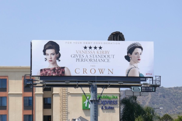 Crown season 2 Vanessa Kirby Emmy FYC billboard