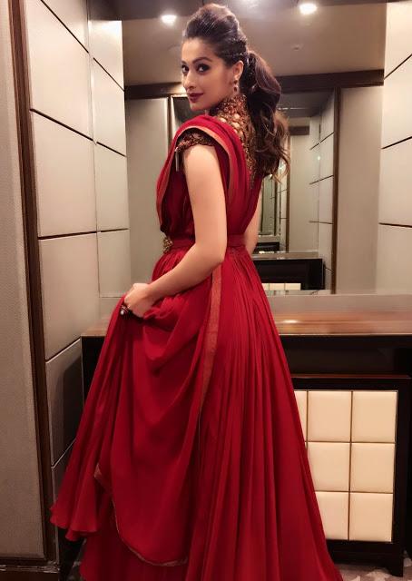 Actress Lakshmi Rai Red Dress New Images