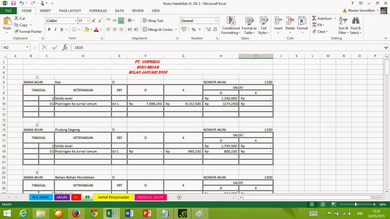 Worksheets Worksheet Akuntansi Waytoohuman Free