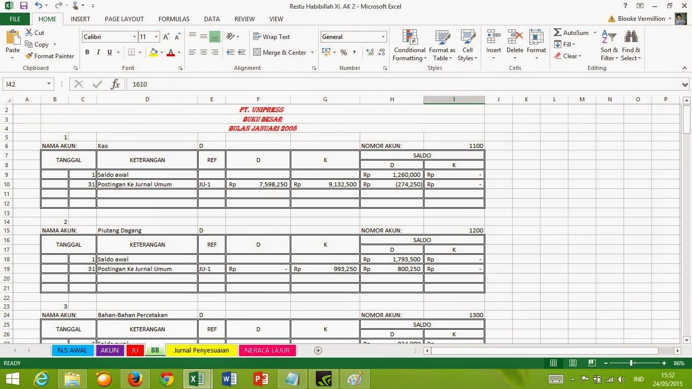 Template Excel Akuntansi Bonus