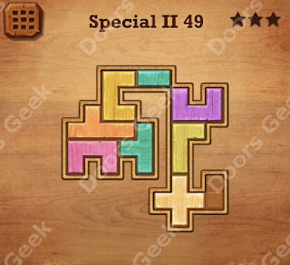 Cheats, Solutions, Walkthrough for Wood Block Puzzle Special II Level 49
