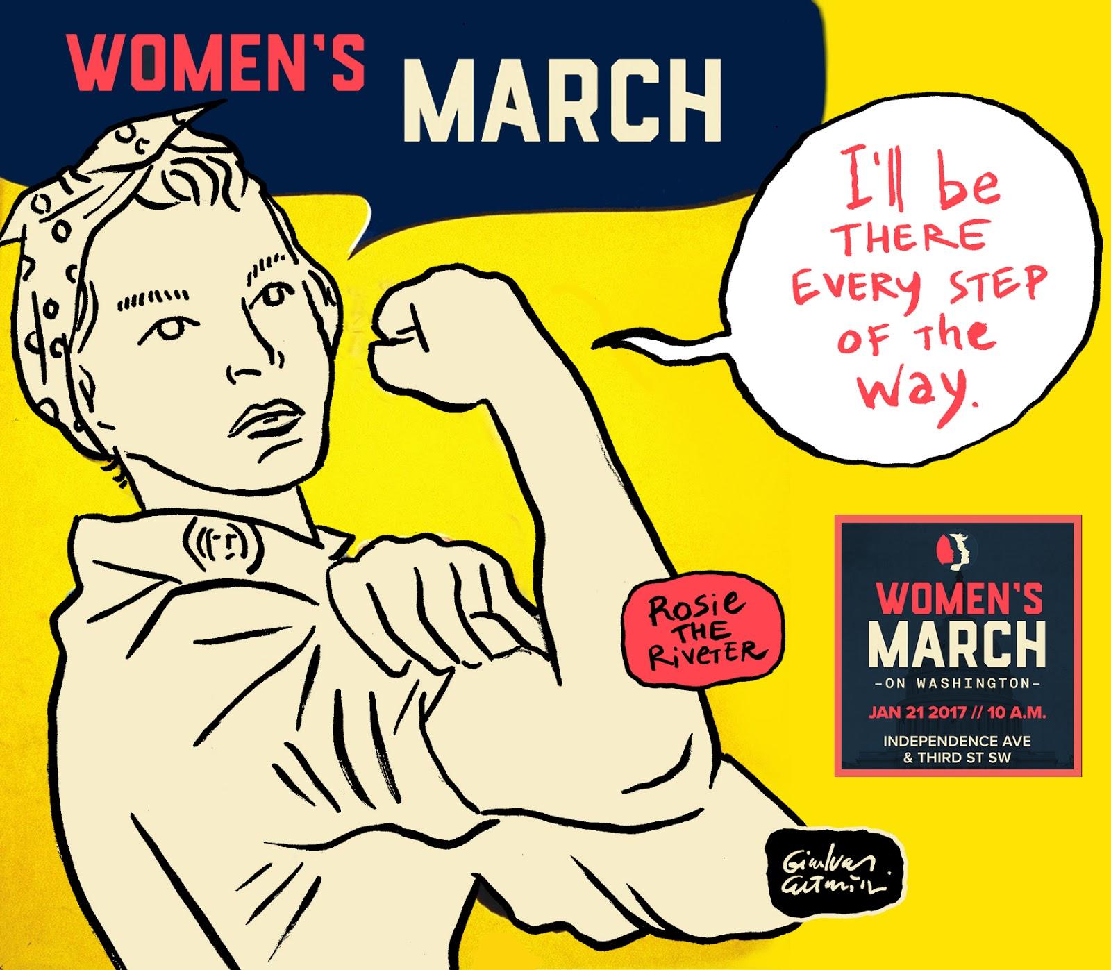 Women's March - Rosie the Riveter