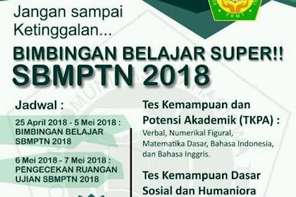 Bimbingan Belajar Persiapan SBMPTN 2018