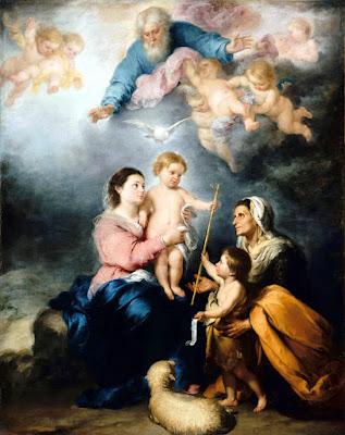 """Murillo - La Sagrada Familia, llamada """"La Virgen de Sevilla"""" - Museo del Louvre de París"""
