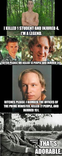 Lustige Bilder Massenmörder im Vergleich
