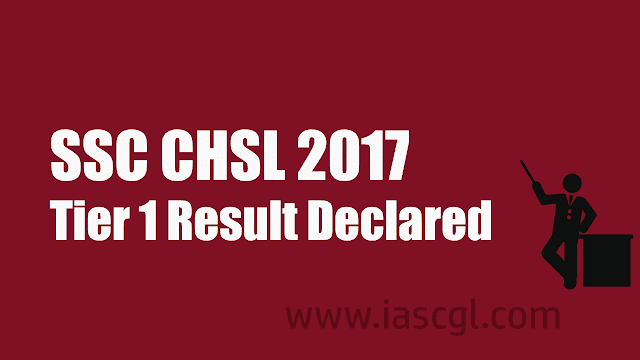 SSC CHSL Tier 1 Result