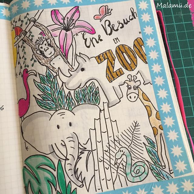 Zoo Doodle bzw. Zoo Sketchnote