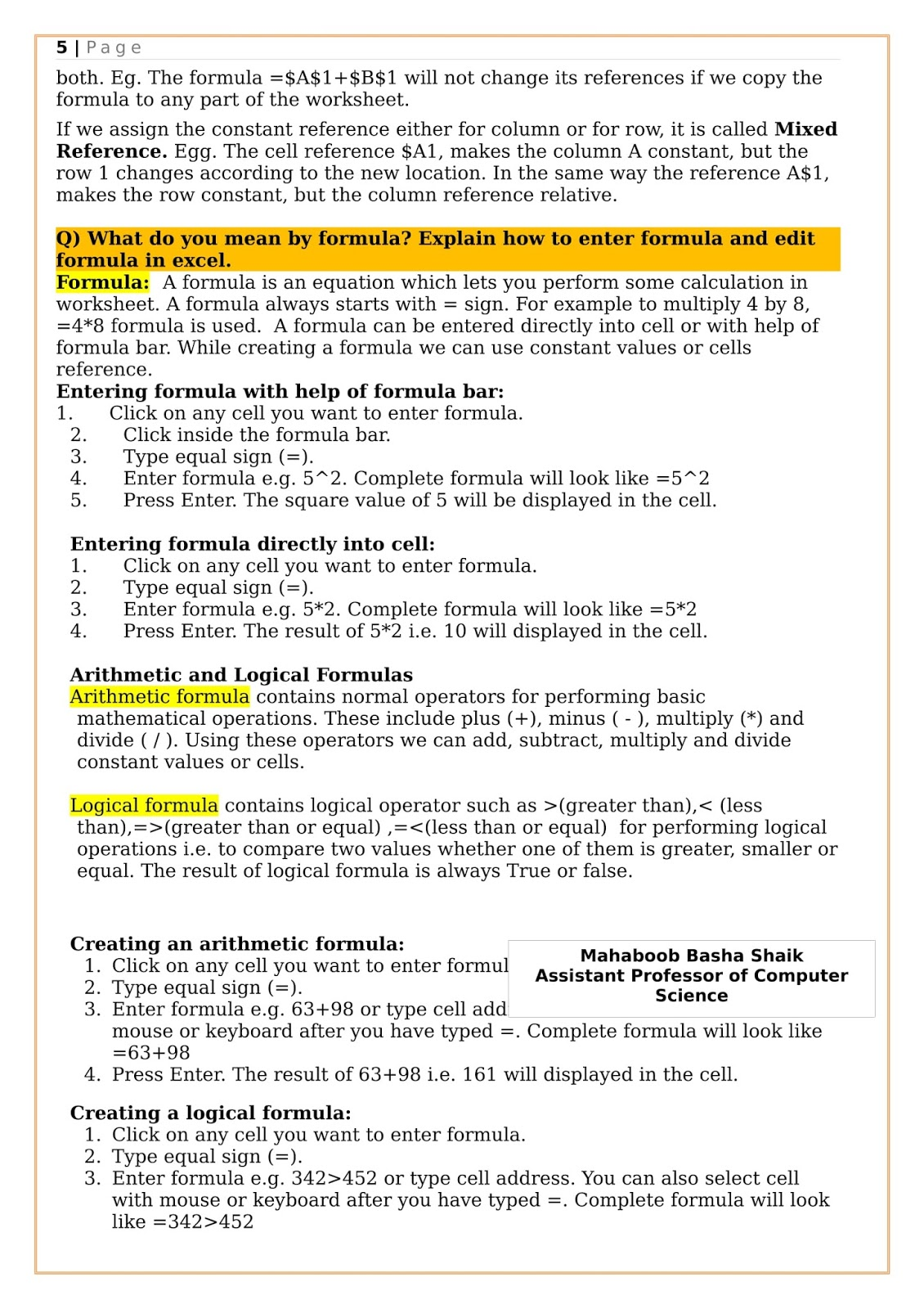 computer Notes: II B COM CA- OFFICE AUTOMATION TOOL NOTES - UNIT -1