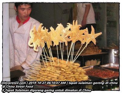 gambar tapak Sulaiman digoreng garing sebagai makanan manusia di China