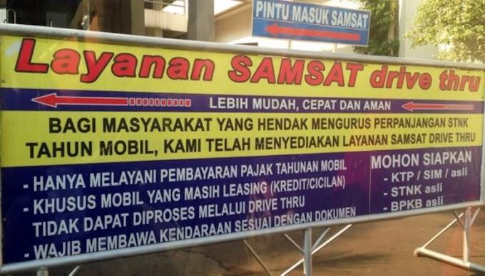 Lokasi Samsat Drive Thru di Jakarta