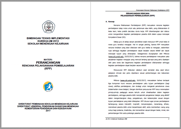 Berikut ini adalah berkas modul Perancangan RPP  Perancangan RPP (Rencana Pelaksanaan Pembelajaran) Kurikulum 2013 SMK