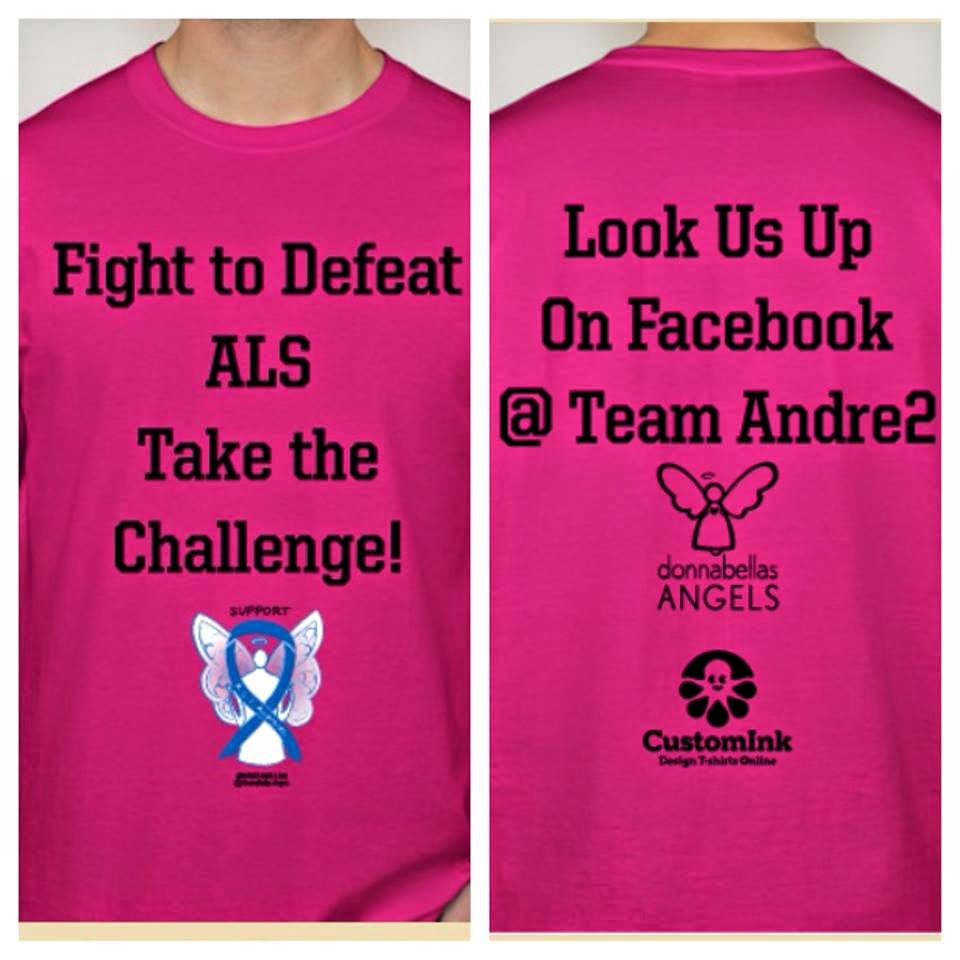 ALS Awareness Blue Ribbon Angel Team Walk T-Shirt
