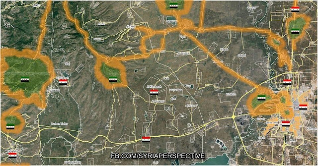 Homs Syria Updated Strategic Battle Map