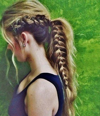 Braided Ponytail Hairstyle for Long Hair