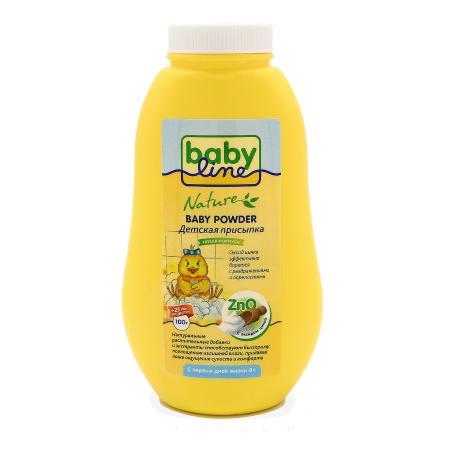 Phấn Baby Powder BabyLine với kẽm dành cho trẻ từ sơ sinh