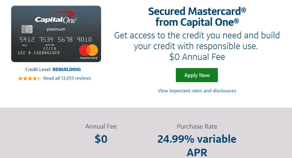 Capital one secured credit card maximum deposit
