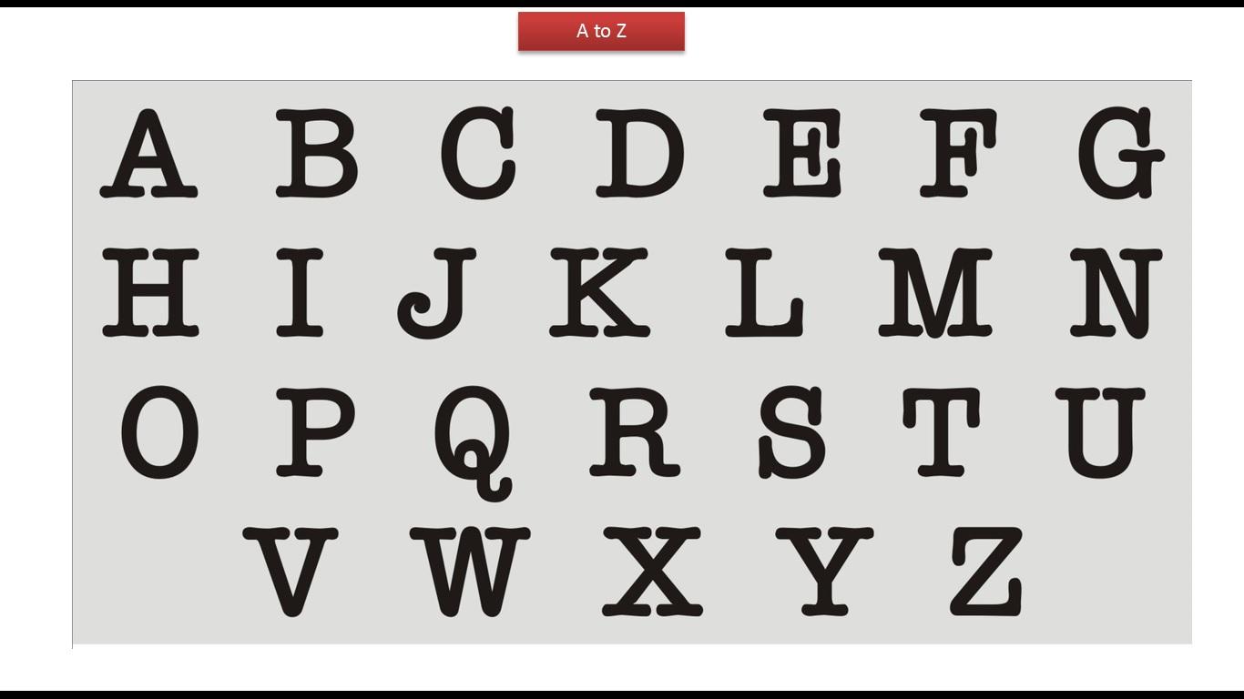 Java Ee Kids Abcd Black Letters
