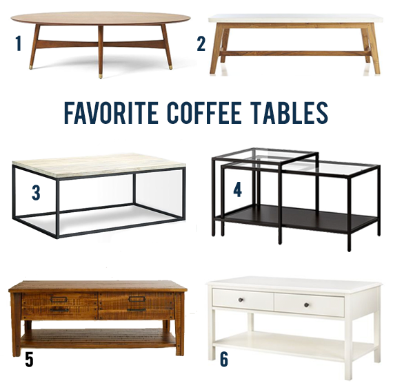Our Favorite Coffee Tables // Bubby and Bean