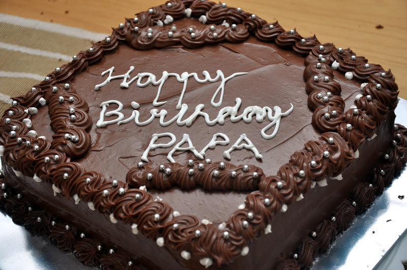Jyotsna S World The Best Chocolate Cake For Dads Birthday Father