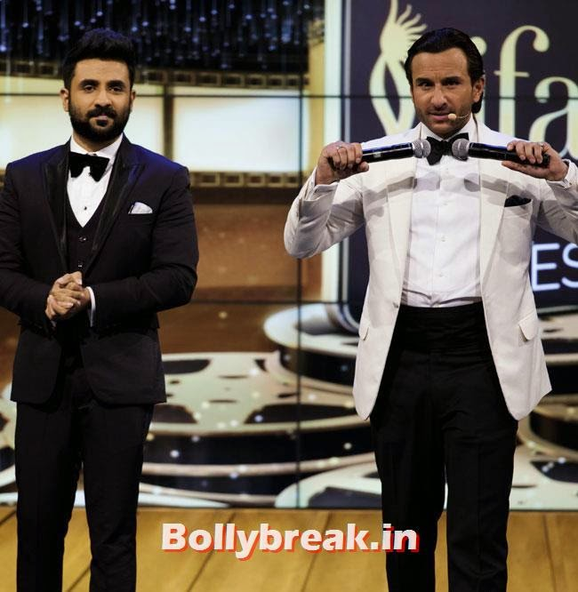 vir Das and Saif Ali Khan, IIFA Awards 2014 Pics
