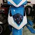 Sơn phối màu xe Honda Dylan trắng xanh dương (Dylan_SG100)