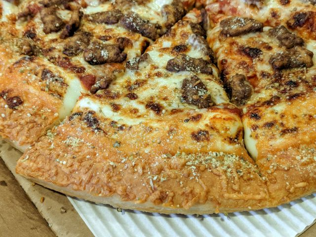 review pizza hut double cheesy pan pizza brand eating