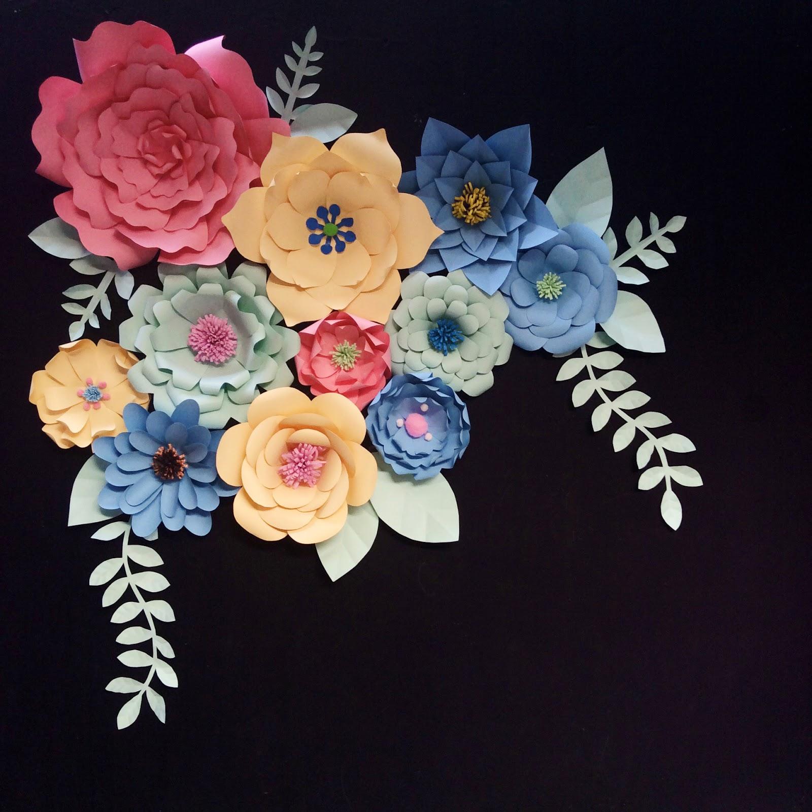 C E M P R U T Paper Flowers Wedding Decoration Cara membuat paper flower