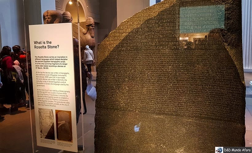 Pedra da Roseta no Museu Britânico de Londres