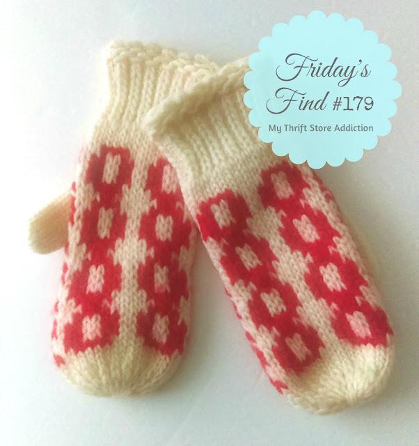 Handmade thrift store mittens