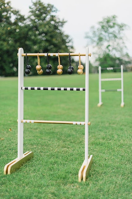 DIY ladder gold outdoor yard game