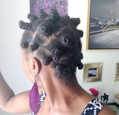 Bantu knots on long natural hair - ClassyCurlies