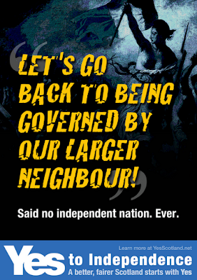Let's go back to being governed by out larger neighbour, said no independent nation ever.