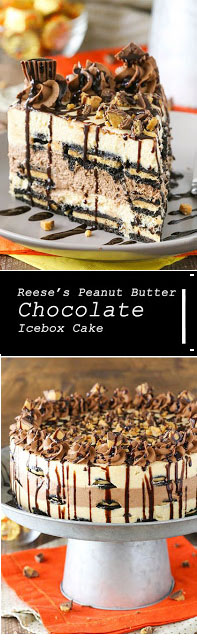 Delicious Reese's Peanut Butter Chocolate Icebox Cake