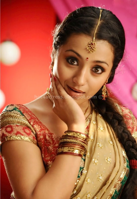 Hot actress trisha saree pics