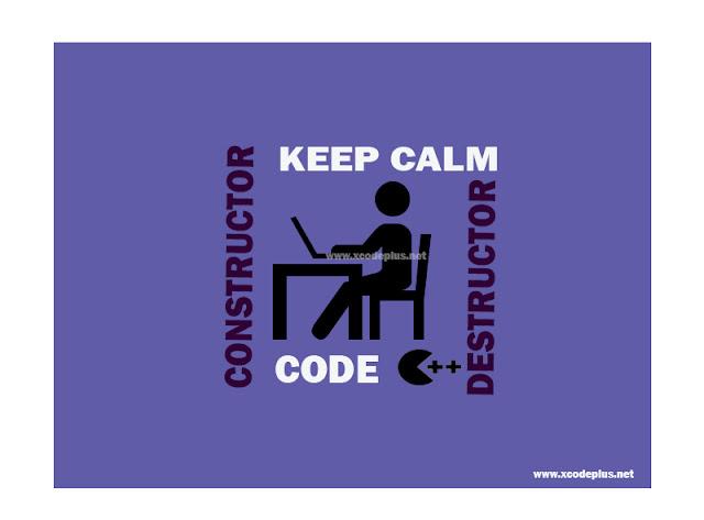 Gambar Constructor dan Destructor OOP C++ By xcodeplus.net