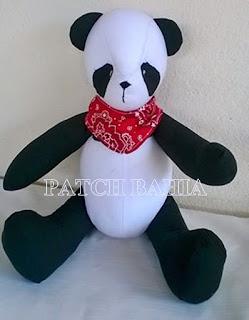 panda, urso panda feito em tecido