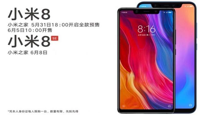 Ponsel Xiaomi Mi 8 telah Resmi Dirilis, Berikut Spesifikasi serta Harganya