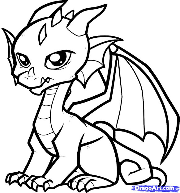 Coloring Page Dragon New