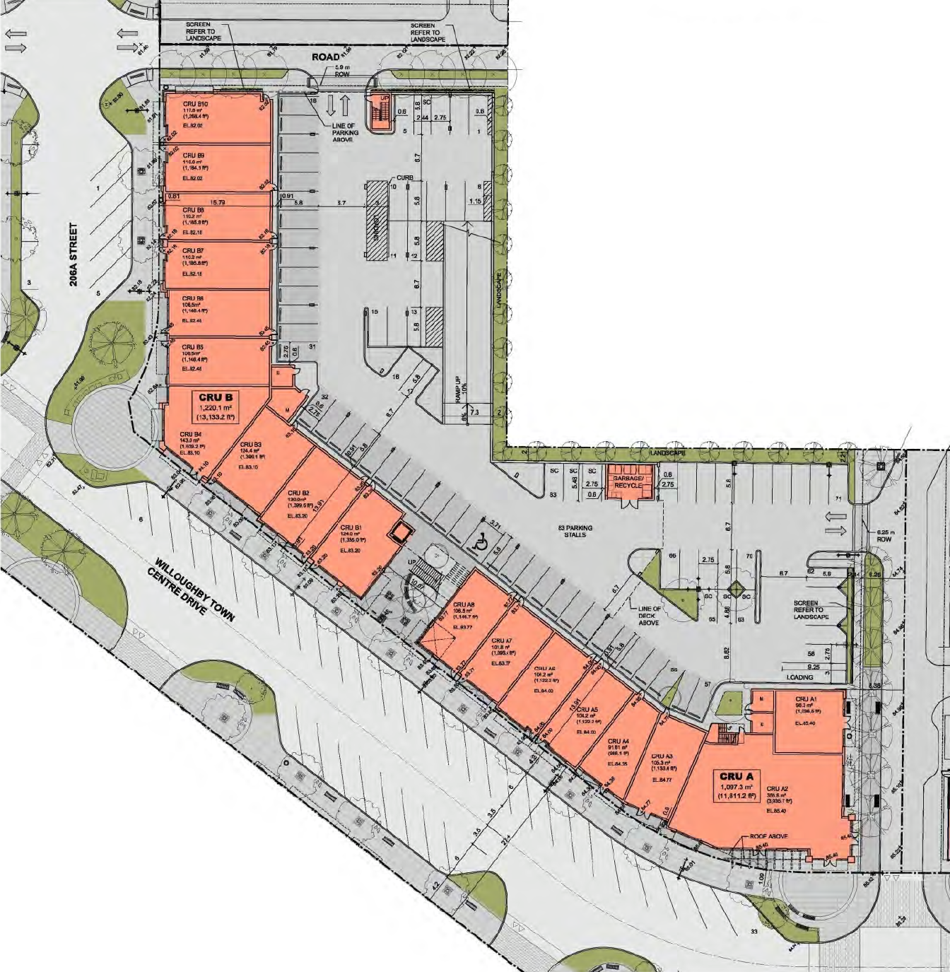 Site plan of proposed two storey commercial building in willoughby town centre select image to enlarge