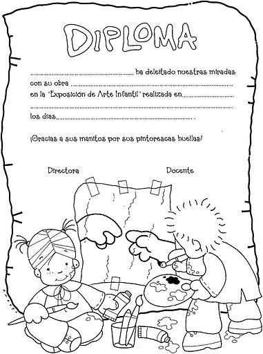 Maestra asunci n diplomas y cuchituras para egresados del for Grado medio jardin de infancia