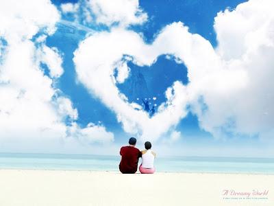 imagen de amor con nubes