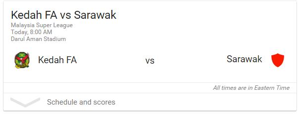 live streaming kedah vs sarawak.