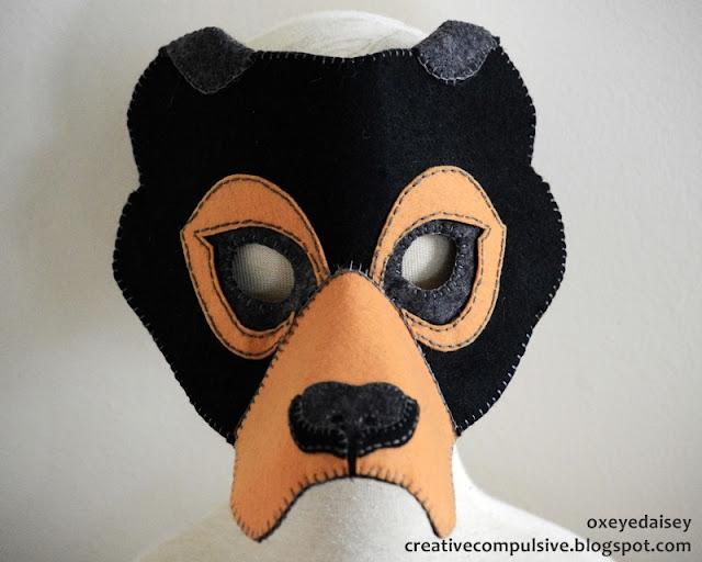 sun bear mask