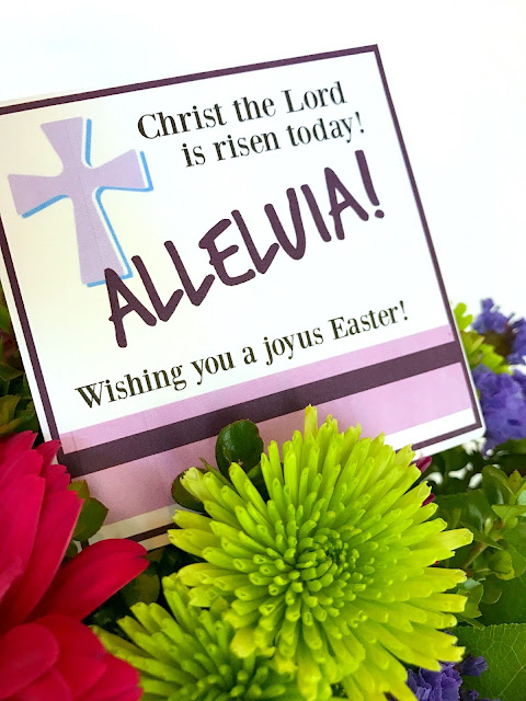 Alleluia Easter tags to print.
