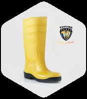 SEPATU SAFETY TOYOBO EN12568-yellow, Alamat Sepatu Toyobo Boots di surabaya sidoarjo.