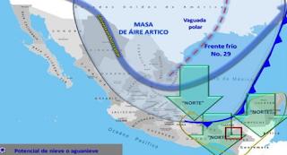 Evento de Norte y Surada en la zona de Orizaba Veracruz