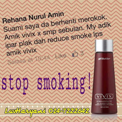 Testimoni Berhenti Merokok Dengan Vivix 2